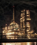 Refinery. Round the clock running an oil refinery Royalty Free Stock Photos