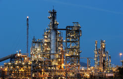 Refinery. At night with lights Stock Photography