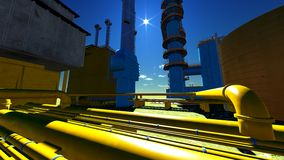 Refinery Royalty Free Stock Photography