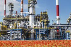 Refinery. A photo of petrochemical industrial plant Royalty Free Stock Photo