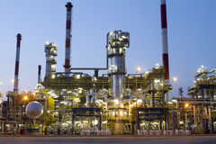 Refinery. A photo of petrochemical industrial plant Stock Images