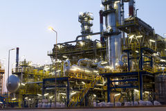 Refinery. A photo of petrochemical industrial plant Stock Photo