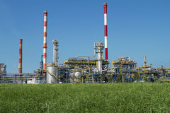 Refinery. A photo of petrochemical industrial plant Stock Photos