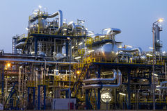 Refinery. A photo of petrochemical industrial plant Royalty Free Stock Images