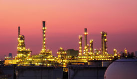 The refinery Royalty Free Stock Image