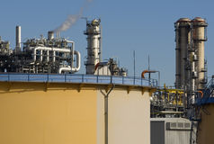 Refinery. For the supply of energy also caused climate change Stock Photo