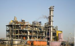 Refinery. Rotterdam Royalty Free Stock Images