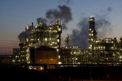 Refinery. Plant as an industrial company for the production of oil and gas Royalty Free Stock Photo