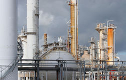 The Refinery. Detail of industrial plant at an oil refinery Stock Photography