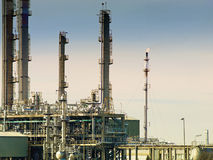 Refinery. For processing oil and natural gas Royalty Free Stock Image