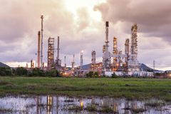 Refinery. Building in early Royalty Free Stock Images