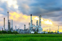Refinery. Building in early morning Stock Photography