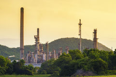 Refinery. Building in early morning Royalty Free Stock Photo