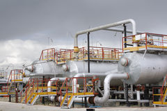 Refinery center Royalty Free Stock Photos