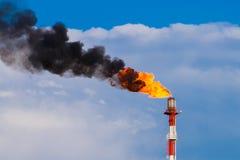 Refinery chimney Stock Image
