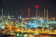 Refinery in the city Royalty Free Stock Images