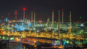 Refinery in the city Royalty Free Stock Image