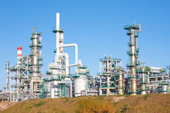 Refinery complex Stock Images