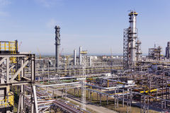 Refinery complex at summer daylight Royalty Free Stock Photo