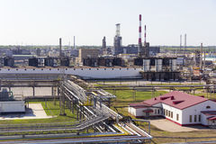 Refinery complex at summer daylight Royalty Free Stock Photos