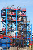 Refinery construction site with workers Stock Image