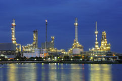 Refinery at dusk Stock Image