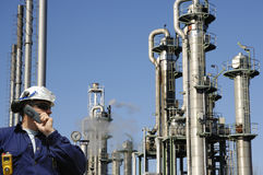 Refinery engineer and chemical industry Stock Photography