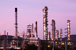 Refinery in evening. Stock Images