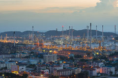 Refinery factory plant in heavy industry estate ,Chonburi ,Thail Royalty Free Stock Photography