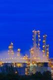 Refinery factory twilight Royalty Free Stock Photo