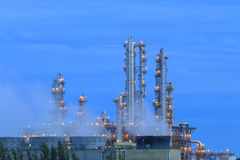 Refinery factory twilight Stock Photos