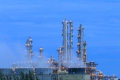 Refinery factory twilight Stock Photos