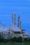 Refinery factory twilight Stock Photography