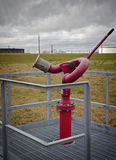 Refinery fire fighting fire monitor Stock Images