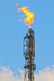 Refinery fire gas torch Stock Image