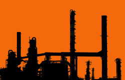 Refinery in France Royalty Free Stock Photography