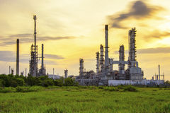 Refinery. And greenfield Royalty Free Stock Photo