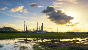 Refinery. Greenfield and Royalty Free Stock Photography