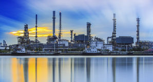 Refinery industrial plant Stock Photography