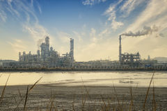 Refinery industrial plant Stock Images