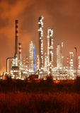 Refinery industrial plant at night Royalty Free Stock Photography