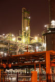 Refinery industrial plant at night Royalty Free Stock Images