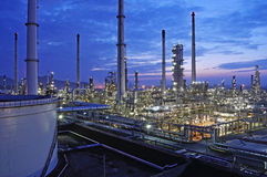 Refinery industrial plant Stock Image
