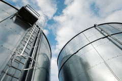 Free Refinery Ladder And Tanks Stock Photos - 7855443