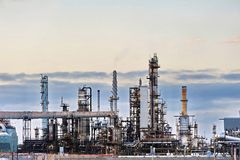 Refinery landscape Stock Images