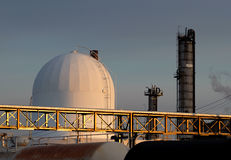 Refinery in the morning. Location: Montreal, Canada. Camera: NIKON D200 royalty free stock images