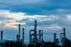 Refinery in the morning. Stock Photography