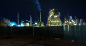 A refinery in my backyard. Refinery in Montreal. Camera: Nikon D50, manual white balance royalty free stock image