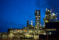 Refinery at night 10 royalty free stock photography
