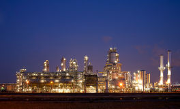 Refinery at night. In the Port of Rotterdam, Europoort, Holland Stock Image